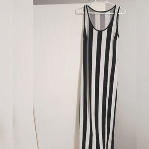 Black and white striped Maxi dress